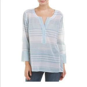 NYDJ Striped tunic woven, lightweight! Size Small